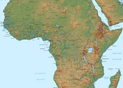 Africa Physical Map: Africa physical map from geographicguide 1
