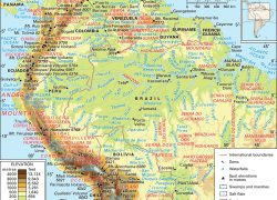 Andes mountains map from britannica 3