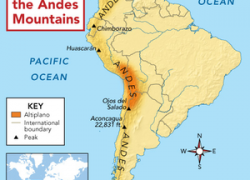 Andes mountains map from clker 10