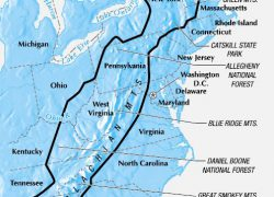 Appalachian Mountains Map: Appalachian mountains map from pinterest 1