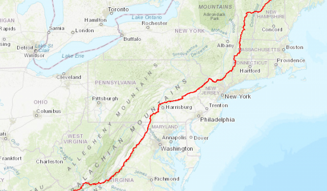 Appalachian trail map from appalachiantrail 1