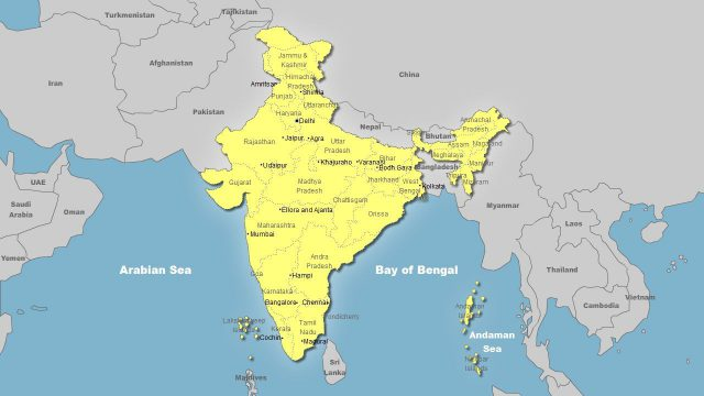 Bay Of Bengal On World Map