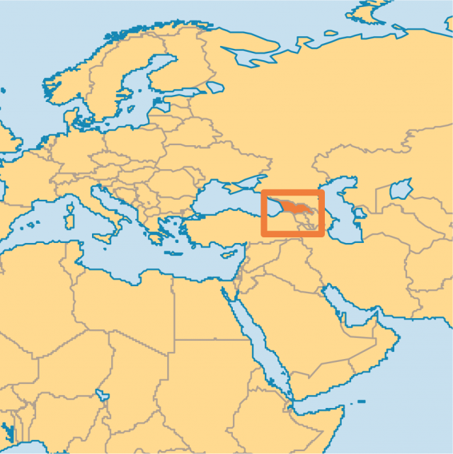 Caucasus Mountains On World Map