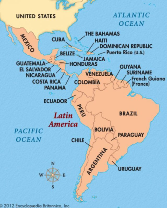 Central and south america map from pinterest 1