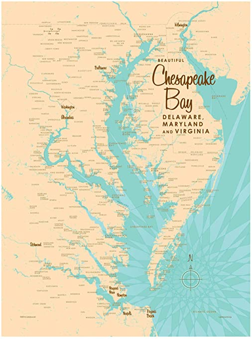 Chesapeake bay map from amazon 1