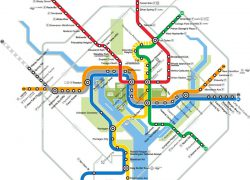 Dc Metro Map: Dc metro map from washington 1