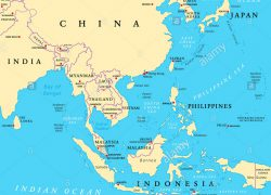 East asia map from alamy 4