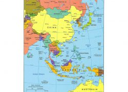 East asia map from mapsland 5