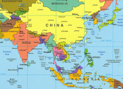 East asia map from quizlet 3