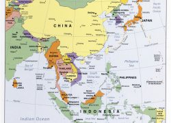 East asia map from vidiani 8