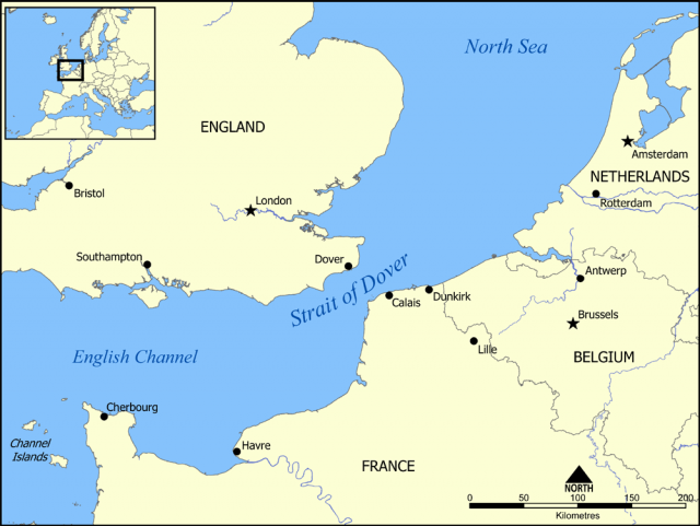English Channel On World Map