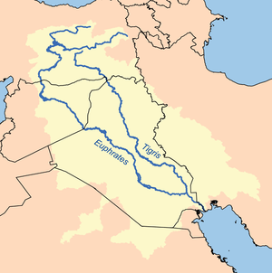 Euphrates River On World Map