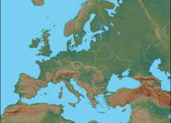 Europe Physical Map: Europe physical map from geology 1