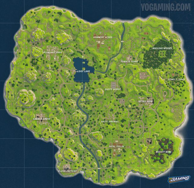 Fortnite season 1 map from yogaming 2