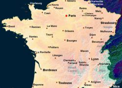 France map from about france 7