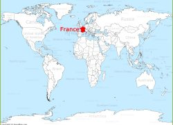 France on world map from annamap 2