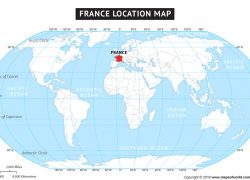 France on world map from mapsofworld 8