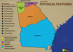 Georgia physical features map from emaze 3