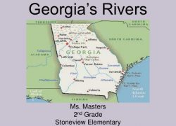 Georgia physical features map from pinterest 10