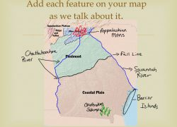 Georgia physical features map from slideplayer 9