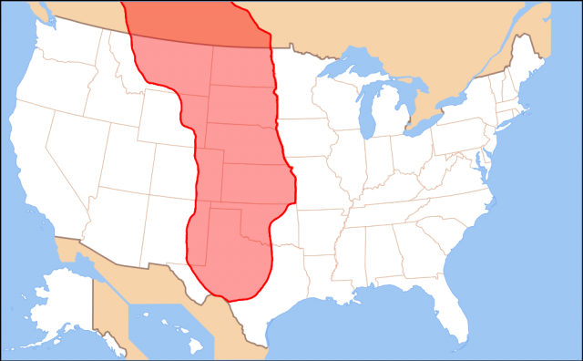 Great Plains On Map