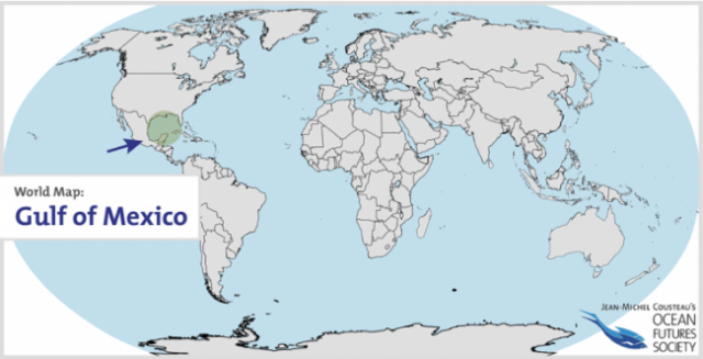 Gulf Of Mexico On World Map