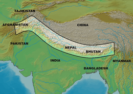 Himalayas map from en 1