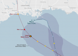 Hurricane Laura Map: Hurricane laura map from nytimes 1
