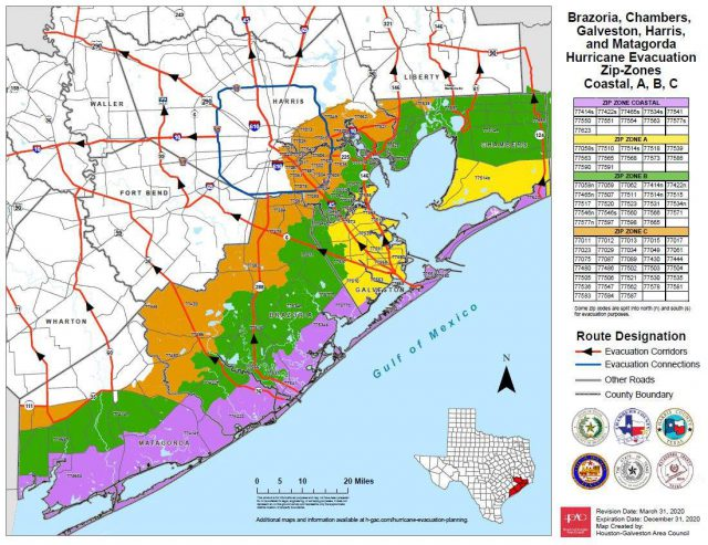 Hurricane Laura Texas Map