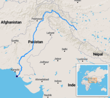 Indus River Map