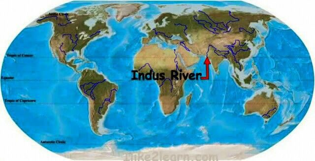 Indus River On World Map