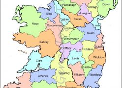 Ireland Map: Ireland map from irish genealogy toolkit 1