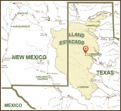 Llano estacado map from pinterest 1