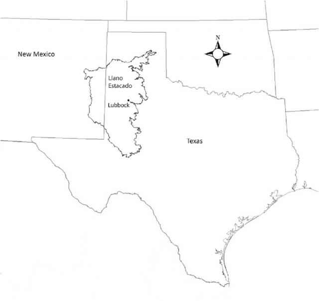 Llano Estacado Map