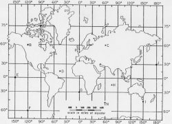 Longitude And Latitude Map: Longitude and latitude map from jsu 1