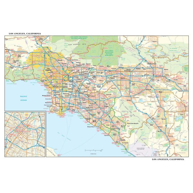 Los angeles california map from mapshop 2