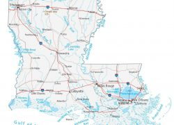 Louisiana Map: Louisiana map from gisgeography 1