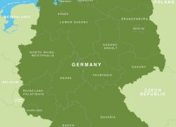 Map of germany from maproom 2
