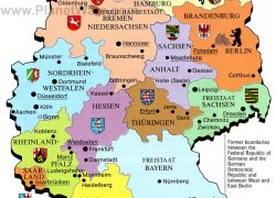 Map of germany from planetware 8