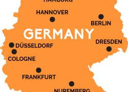 Map of germany from railpass 6