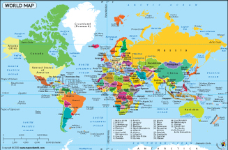 Map of the world from mapsofworld 1