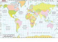 Map Of The World With Latitude And Longitude Lines: Map of the world with latitude and longitude lines from amazon 1