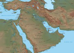 Middle East Physical Features Map: Middle east physical features map from geographicguide 1