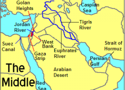 Middle east physical features map from pinterest 2