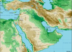 Middle east physical features map from pinterest 4