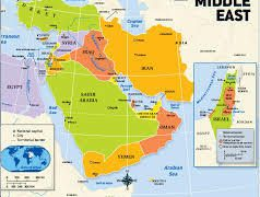 Middle east physical features map from quizizz 7