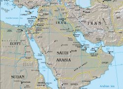 Middle east physical features map from teachmiddleeast 5