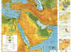 Middle east physical features map from tes 6