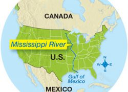 Mississippi River On World Map: Mississippi river on world map from scienceworld 1