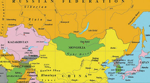 Mongolia map from citiesandplaces 1